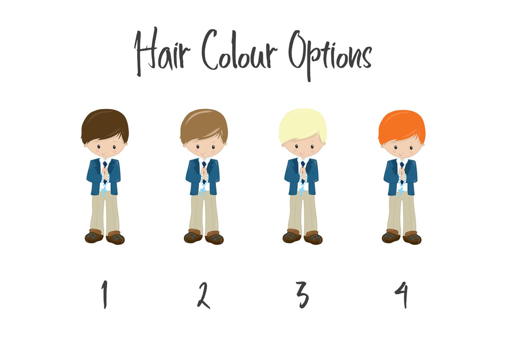First Holy Communion Gifts for Boys - Character Hair Colour Choices