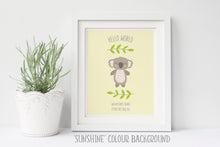 Koala Print, Koala Baby Shower, Christening Gifts For Boys, Baby Boy Gift, Gender Neutral Nursery Deccor