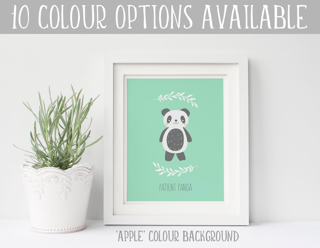 Panda Nursery Decor, Panda Bear Bedroom Decor, Panda Baby Room Decor, Panda Nursery Wall Art, Custom Nursery Prints