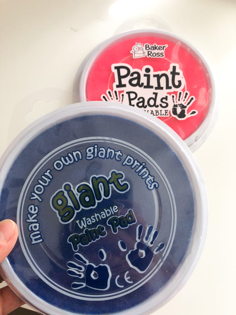 Handprint and Footprint Kit - Giant Inkpad colour choices