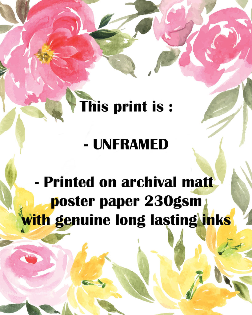 Crafty Cow Design Unframed print Details