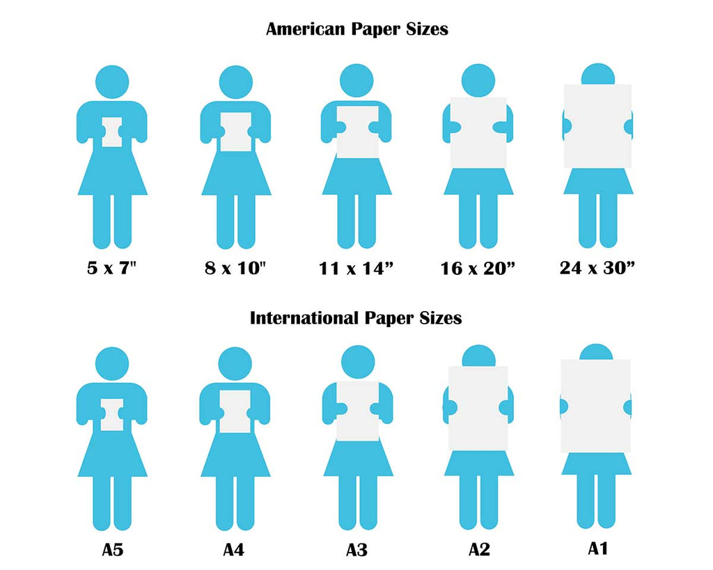 Crafty Cow Design - Print Size Comparison Chart
