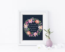 Let Her Sleep for When She Wakes Wall Art, Floral Nursery Prints, let her sleep print, floral girls