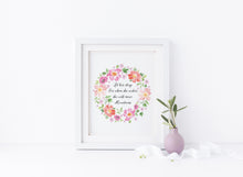 Floral Nursery Wall Decor, Girl Bedroom Wall Quotes, Prints for Baby Girls Room, nursery wall quotes