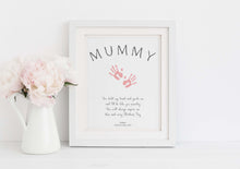 Baby Handprint Art, Mother's Day Handprint Art, Footprint Keepsake, mother's day handprint, mother's day handprint art