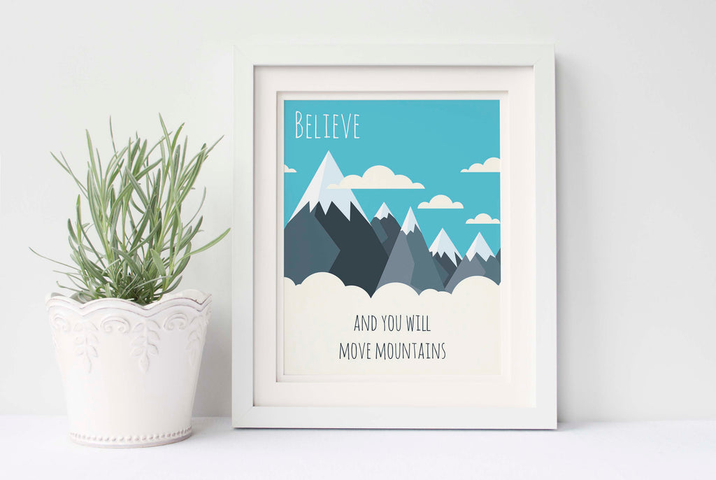 faith can move mountains, bible verses about faith, christian wall art uk, christian wall art prints