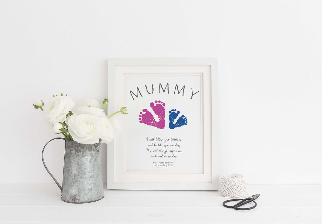 Keepsake Gifts For Mum Gifts from Baby Footprint Gift Ideas for Mum, Mummy gifts from Baby, mummy gifts for mothers day