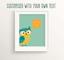 Owl Nursery Decor, Custom Nursery Prints, Woodland Theme Nursery Art, Woodland Theme Nusery Decor, custom quote prints