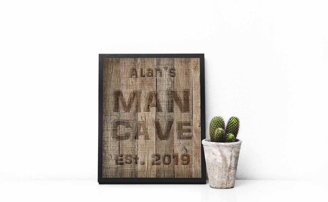 Man Cave Prints, Gift for Man Cave Ideas, Man Cave Decor Birthday, man cave gifts, man cave accessories, gift for dad
