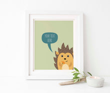 hedgehog themed nursery, hedgehog themed gifts uk, hegehog nursery print, hedgehog nursery decor, woodland nursery decor