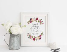 I Can Do All Things Through Christ Wall Art, Philippians 4 13 Poster