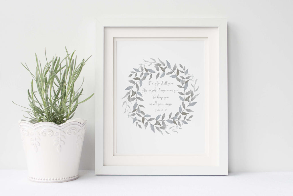 Psalm 91 Wall Art, Communion Art Prints, Communion Gift Ideas UK, communion present ideas,