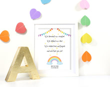 Rainbow Baby Gifts, Personalised Baby Girl Gifts, Custom Baby Name Wall Art Rainbow Baby Wall Art