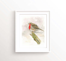 Robin RedBreast Gifts Bird Art Prints, Watercolour Robin Wall Art, Bird Lover Gifts, Bird Poster