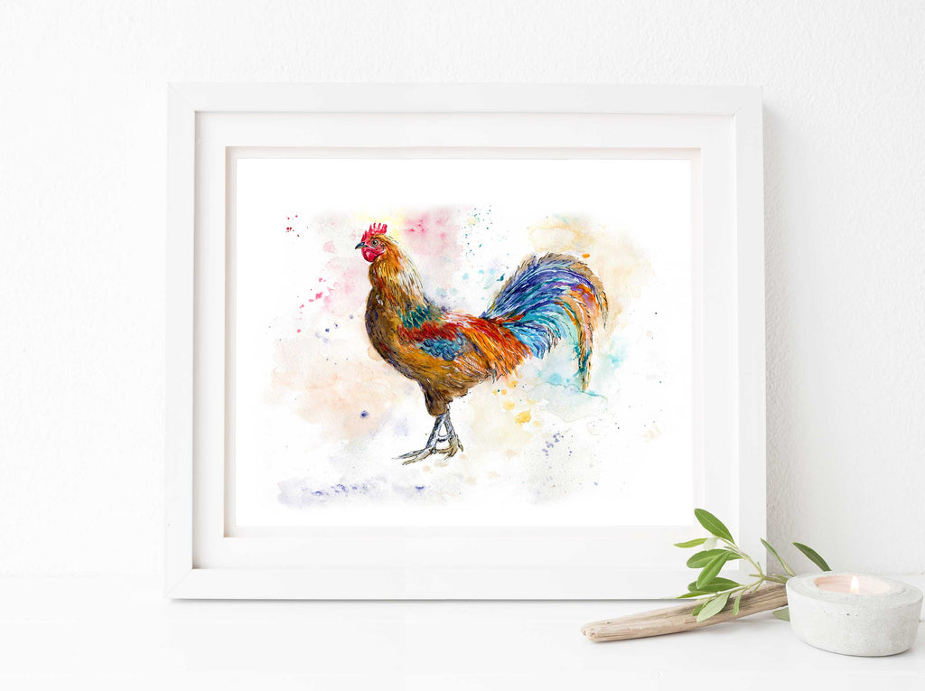 Chicken Wall Art Pictures, Chicken Prints, Kitchen Art, Chicken Art UK, outdoor chicken art, chicken painting, Hen Art