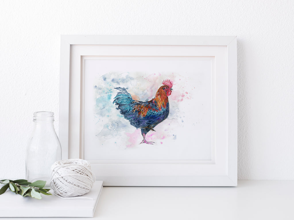 Farmhouse Wall Decor Rooster Wall Art for Kitchen, Rustic Wall Art, Rooster Decor, rooster decor, farmhouse wall art