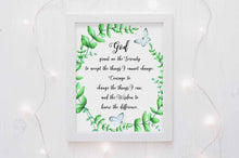 god grant me the serenity bible verse wall art print