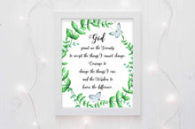 god grant me the serenity aa wall art print with white background