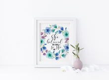 She Believed She Could So She Did Wall Art Quotes for Girls, Teenage Girl Bedroom Decor