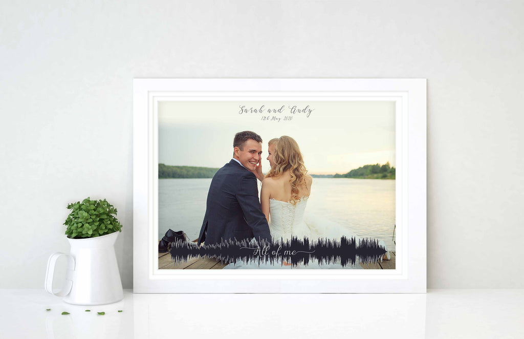 wedding soundwave picture, favourite song print, sound wave gifts for him, sound wave wedding gift