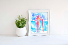 Surfer girl Pictures, Surfer Girl Painting, Surfer Girl Poster, surfer girl print, surfer girl presents, surfer girl