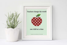 Personalized Teacher Gift, Unique Gifts for Teachers, Daycare Teacher Gift, Teacher Appreciation Print, Thank You Teacher