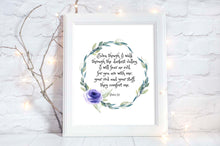 Scripture Decor, floral christian gift, Christian Wall Art, Scripture Art, Bible Verse Prints UK, Floral Bible Verse Print
