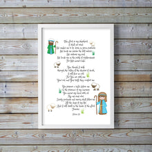 The Lord is My Shepherd Wall Art Print, Psalm 23 Nursery Wall Art, Psalm 23 Nursery Prints