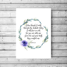 Psalm 23 The Lord is my Shepherd Printable Art, Psalm 23, Bible printables, my cup is, bible verse wal art print