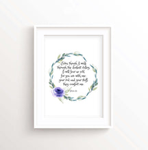 Christian Family Gift, Digital Prints 23rd Psalm, Psalm 23 Scripture Wall Art, Psalms Bible Verse