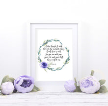 Psalm 23 Printable Art, Psalm 23, Bible printables, my cup is, bible verse wal art print, bible verses for encouragement