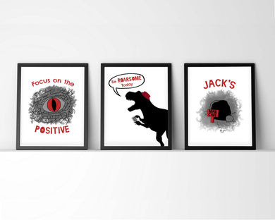 Tween Print Set, Inspirational Tween Wall Art, Positive Boys Room