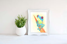Watercolor Frog Art, Watercolor Frog Print, Frog Wall Art Print
