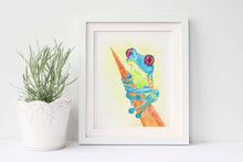 Watercolour Frog Paintings, Frog Watercolour Paintings, Frog Prints, Frog Wall Art, Frog Wall Decor, Frog Artwork