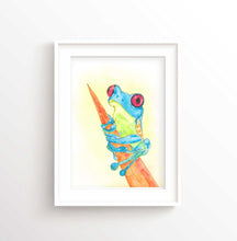 Watercolor Frog Art Print, Frog Art, Frog Picture, Frog Print Nursery Decor, Frog Wall Art, Watercolor Animal Print