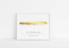 Wedding Anniversary Gift, Custom Soundwave Art work, Personalised Gold Foil Prints, Rose Gold Quote, rose gold foil
