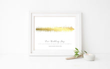 wedding soundwave print, wedding soundwave picture, soundwave wedding gift, soundwave print uk, metallic sound wave
