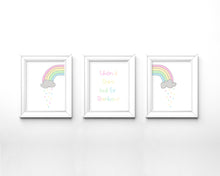 pastel rainbow nursery decor, pastel baby nursery decor, pastel pink nursery decor, nursery pastel wall decor, cute art