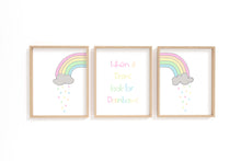 When It Rains Look For Rainbows Nursery Print, Pastel Nursery Decor, inspirational quotes for children, pretty nursery
