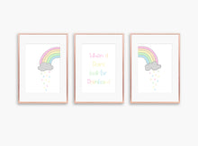 pastel nursery decor, rainbow nursery wall art, rainbow wall art, rainbow pictures, pastel rainbow nursery decor