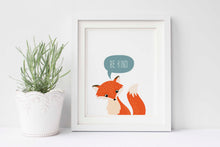fox room decor, fox nursery, be kind prints, be kind quotes, be kind be brave, be kind poster, fox wall art, fox print