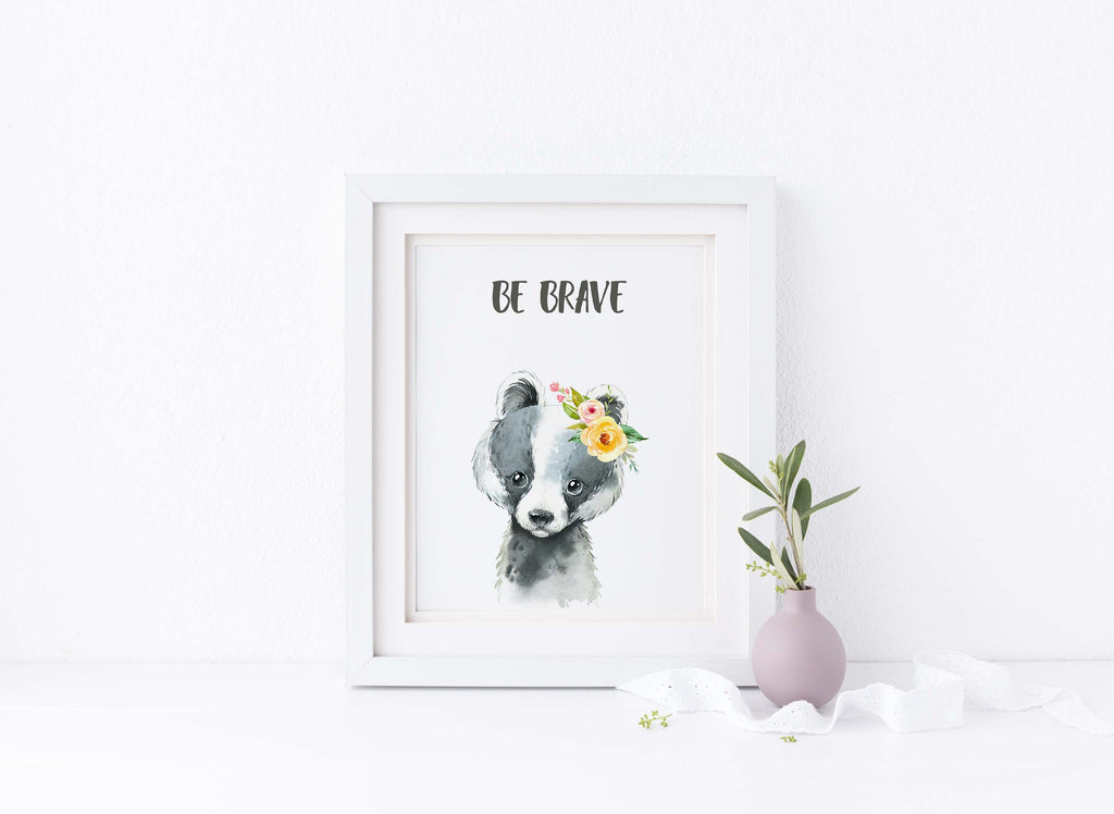 Bible quotes for nursery, Be brave poster, be brave quotes, be brave print, be brave pictures, be brave wall art