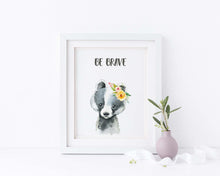 Badger Art, Woodland Nursery Decor Woodland Animal Prints, Woodland Nursery Prints Animals, Animal Nursery Prints,