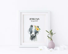 Badger Nursery Wall Art, Be Brave Nursery Decor, Woodland Animals UK, Woodland Animal Prints, Woodland Animals Decor