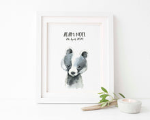 Watercolour Nursery Animal Prints, Woodland Animal Pictures, Watercolour Nursery Prints, Watercolour Nursery Art,