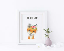 watercolour nursery animal prints, watercolour nursery room art, watercolour baby nursery prints, personalised kids art