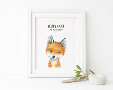 Fox Nursery Decor, Fox Nursery Print, Fox Nursery Ideas, watercolour nursery prints, watercolour nursery art, kids room