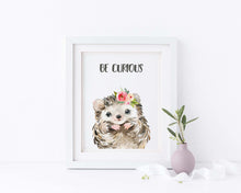 hedgehog themed nursery, hedgehog themed gifts uk, hegehog nursery print, hedgehog nursery decor, watercolour nursery