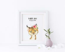 Lynx Nursery Wall Art Girl, Be Honest Wall Art Print Personalised, Animal Wall Art for Kids Prints, Be Honest Wall Art