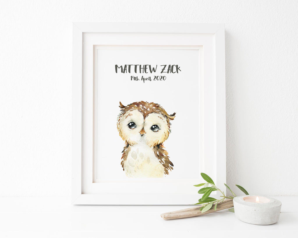 woodland animal pictures, owl room decor, owl wall decor, owl home decor, owl nursery wall decor, owl wall art